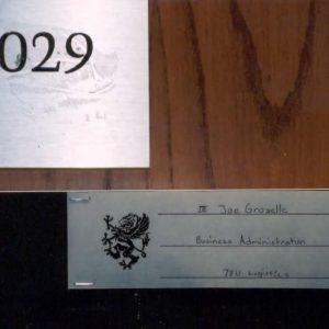 Joes door number